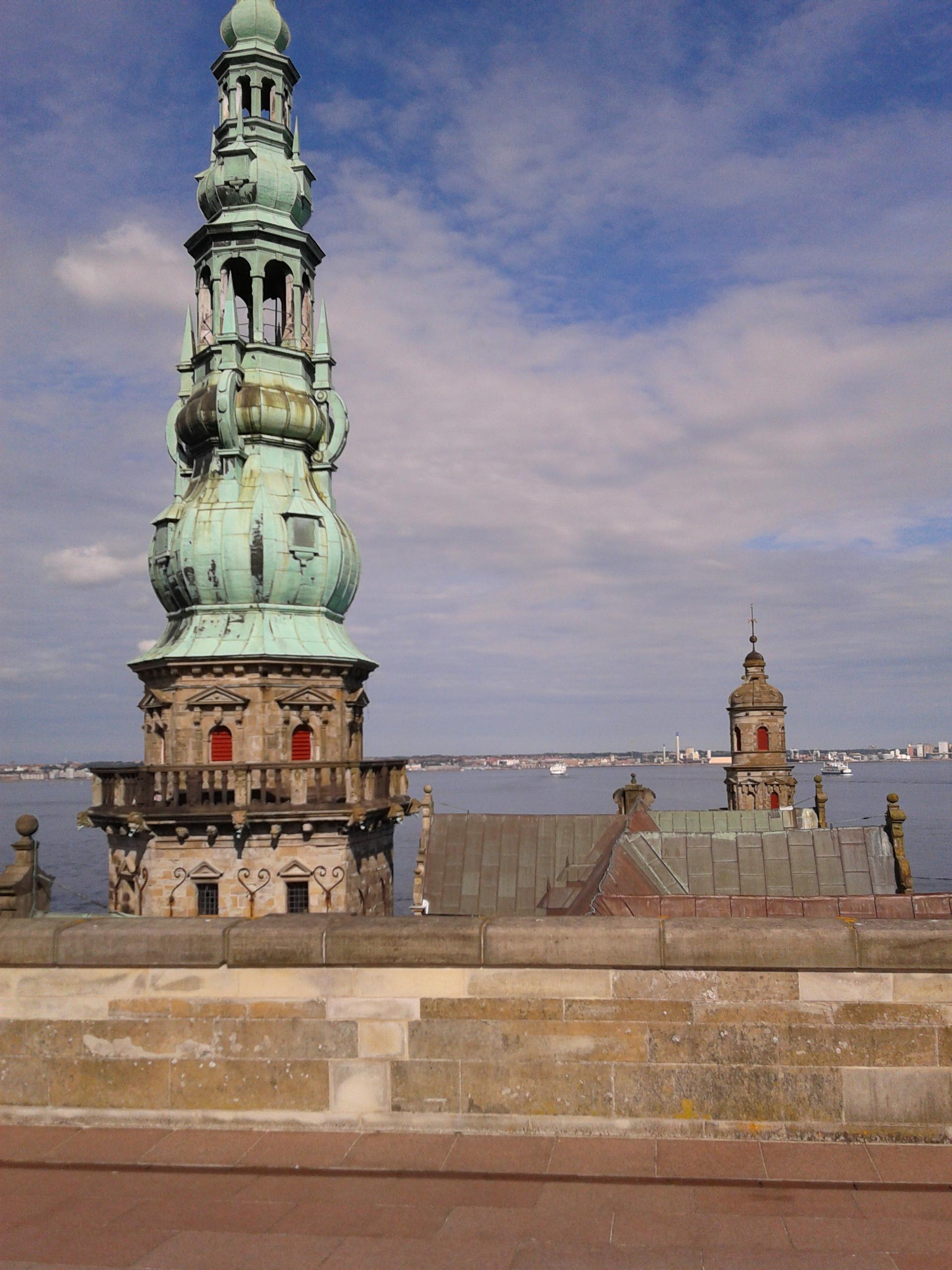 Blick von der Kronborg auf den Öresund und nach Schweden
